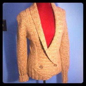 Fashionable button soft cardigan